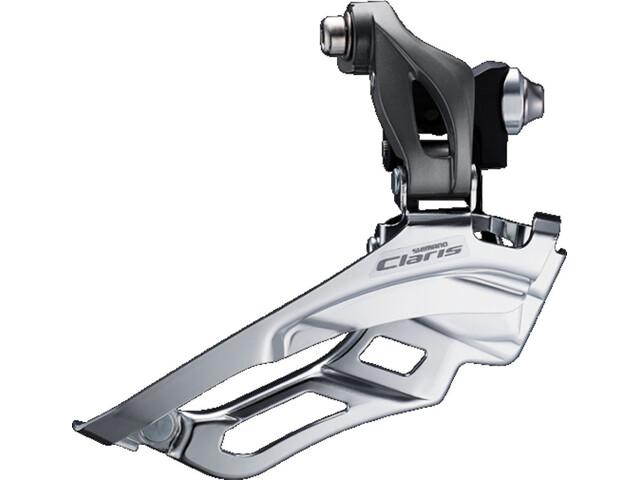 Shimano Claris FD-R2000 Forskifter 2x8-speed Down Swing grå/sølv (2019) | Front derailleur